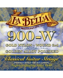 LA BELLA - 900W - Set de Cuerdas GOLD NYLON WOUND 3RD