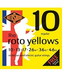ROTOSOUND - R10 - Set de cuerdas Roto Yellows 10-46