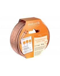 INAKUSTIK - 3021010 - CABLE DE PARLANTE 2x1.5mm 10mts