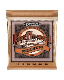 ERNIE BALL - 2144 - Cuerdas EARTHWOOD Phosphor bronze 13-56