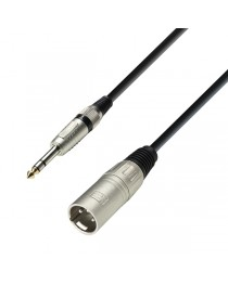 ADAM HALL - K3BMV0600 - Cable Canon Macho - Plug Stereo 6mts.