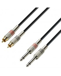 ADAM HALL - K3TPC0100 - CABLE 2 RCA - 2 PLUG 1 Metro